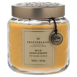 Crafters & Co. Wild Sunflowers Candle, 16-oz, , large