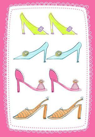 Shoe Happiness Birthday Card
