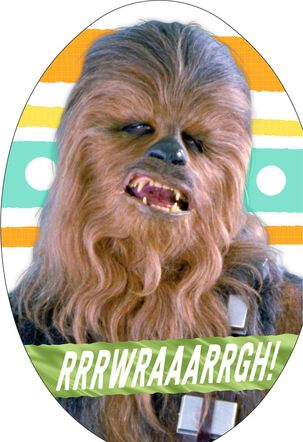 Star Wars™ Chewbacca™ Egg-Shaped Easter Card