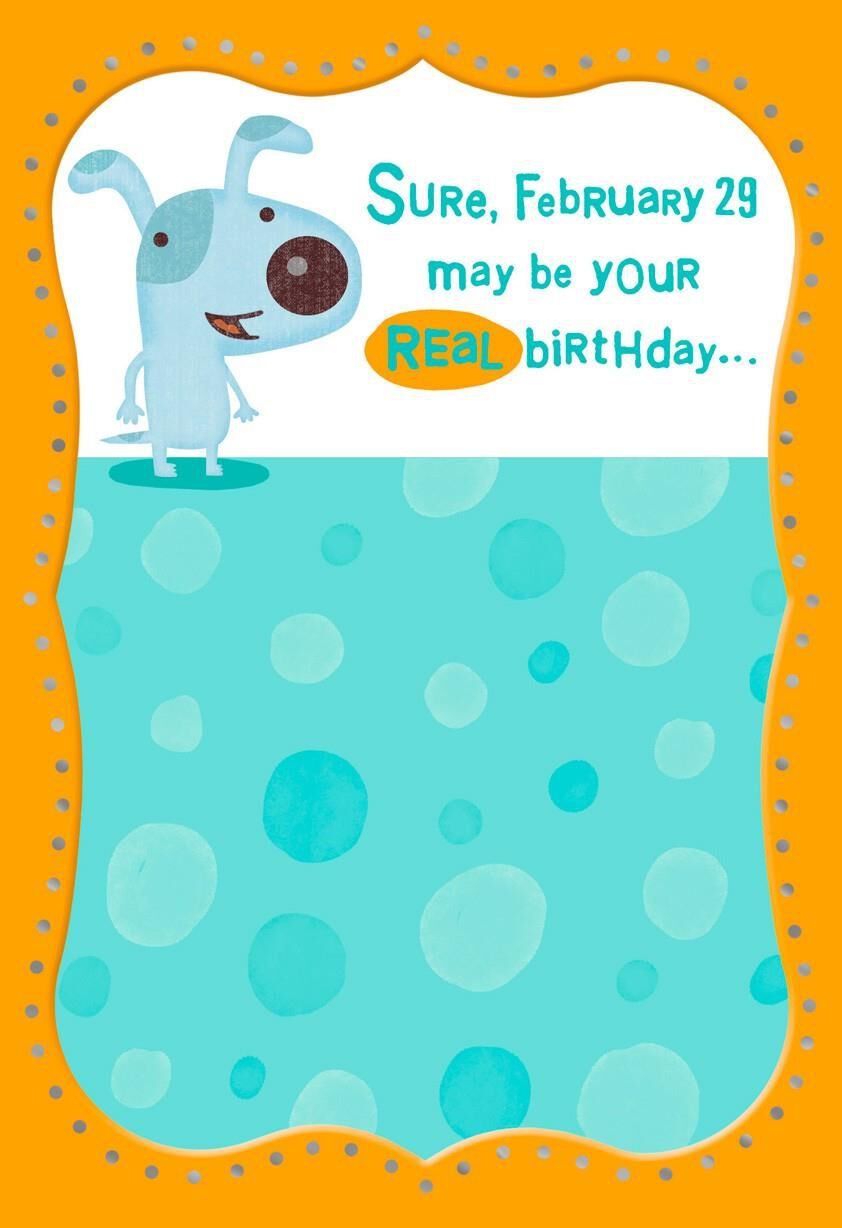 happy leap year birthday card - greeting cards