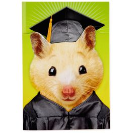 Hamster Pop-Up Sound Graduation Card, , large