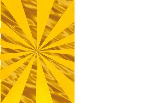 Trans-tastic Gold Burst Blank Card,