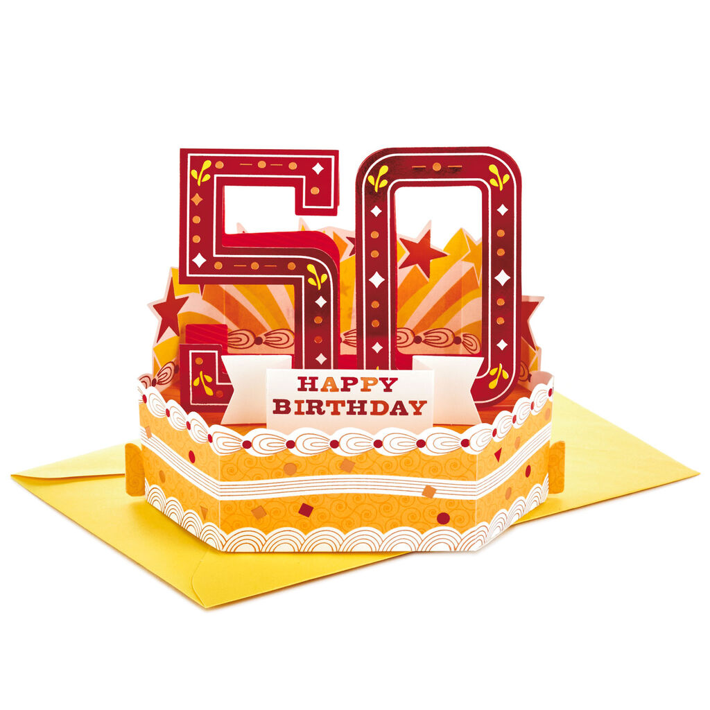 Heres To You Mini Pop Up 50th Birthday Card
