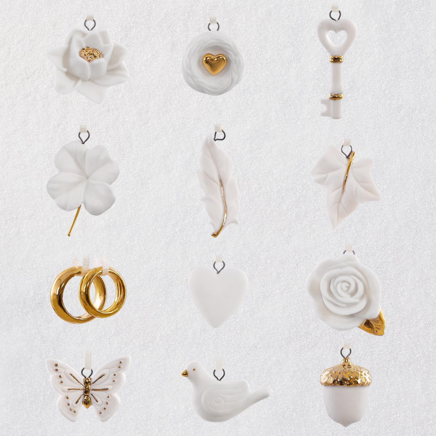 wedding wishes mini ornaments set of 12 keepsake ornaments hallmark