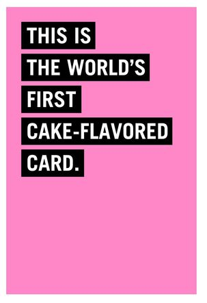 Cake-Flavored Funny Birthday Card