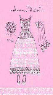 Dress Engagement Card,