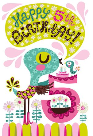 Super Special 5th Birthday Card for Girl