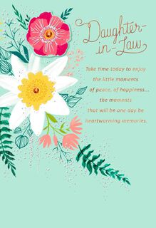 Enjoy Little Moments Mother's Day Card for Daughter-in-Law,