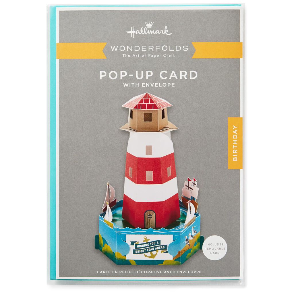 Bright Wishes Lighthouse Pop Up Birthday Card