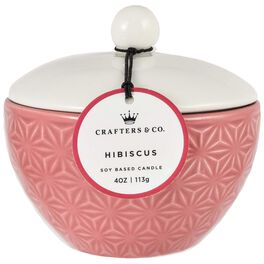 Hibiscus Bowl Candle, 4 oz., , large
