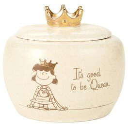 "Peanuts® Lucy Queen Treasure Box, 4"", , large"