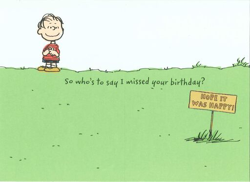 Belated Is Relative Peanuts® Birthday Card,
