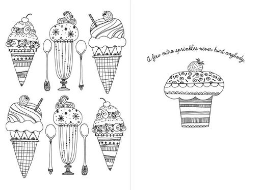 Sweet Treats Just Because Coloring Card,