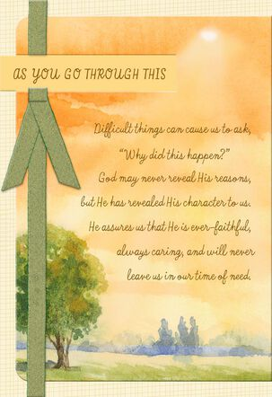 Rest in the Lord Religious Encouragement Card