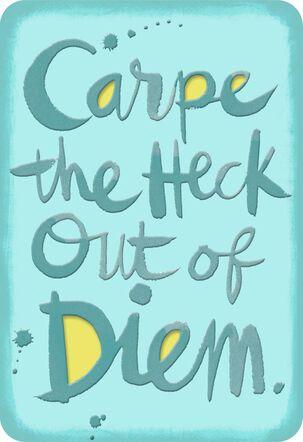 Carpe Diem Funny Encouragement Card