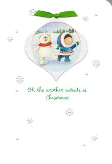 The Weather Outside Is Delightful Christmas Card,