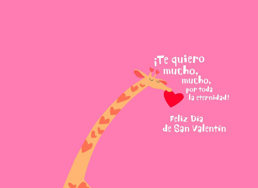 now forever spanish language valentines day card for