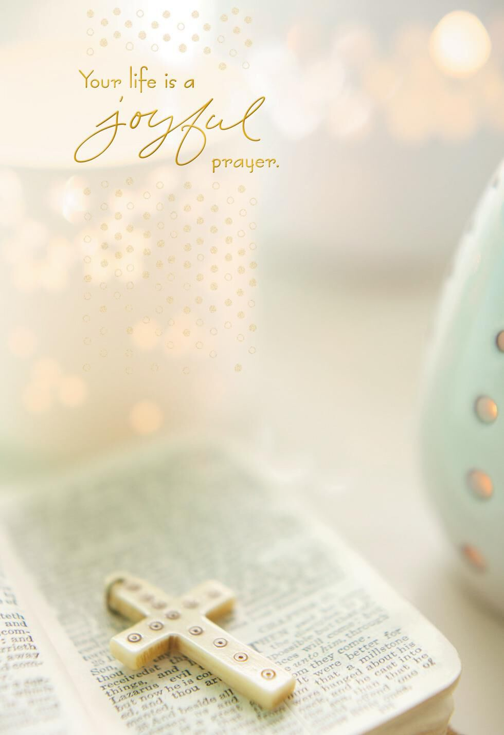 Beautiful Spirit Cross and Bible Religious Easter Card Greeting – Hallmark Easter Cards