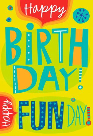 Fun Day Birthday Song and Light Card