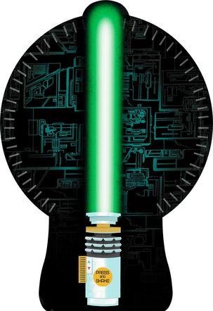 Star Wars™ Lightsaber™ Musical Birthday Card With Light