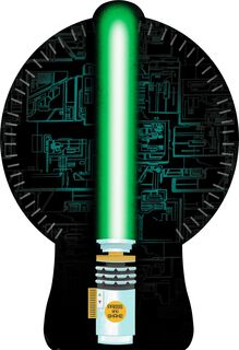Star Wars™ Lightsaber™ Musical Birthday Card With Light,
