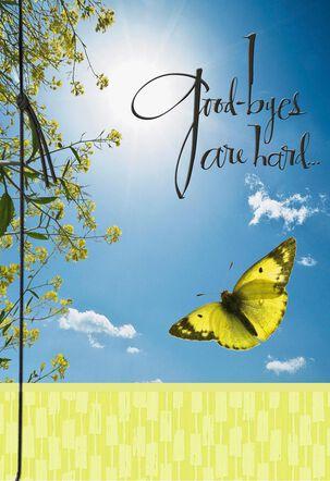 You'll Be Missed Soaring Butterfly Goodbye Card