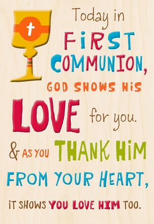 From the Heart First Communion Card