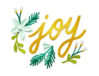 Joy Floral Christmas Card,