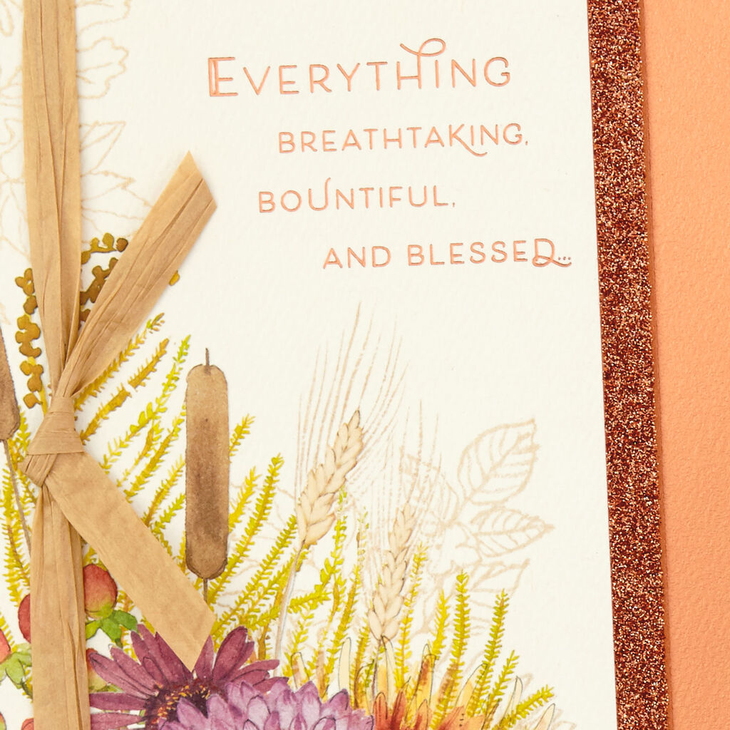 Breathtaking, Bountiful and Blessed Thanksgiving Card