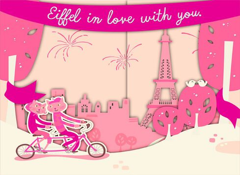 Eiffel Tower Musical Valentines Day Card Greeting Cards Hallmark – Musical Valentines Day Cards