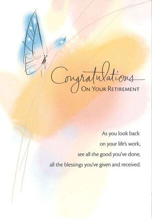 Life's Work Retirement Card