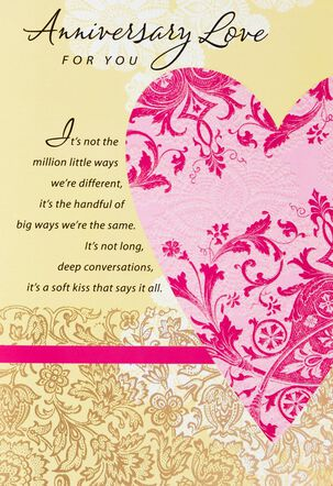 Love You More Each Day Anniversary Card