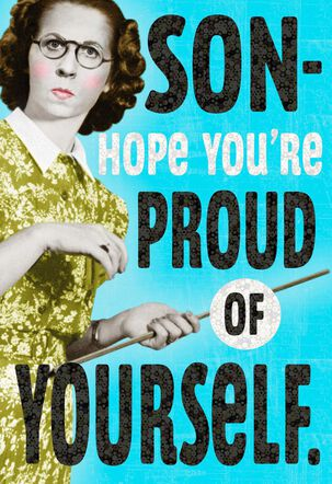Hope You're Proud Graduation Card for Son