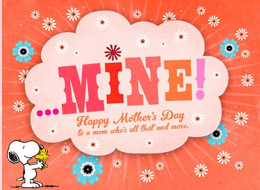 Peanuts® Snoopy You're Mine Funny Mother's Day Card,