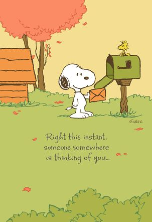 Peanuts® Snoopy™ Missing You Thanksgiving Card