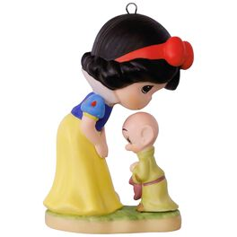 Precious Moments® Disney Snow White and Dopey Porcelain Ornament, , large