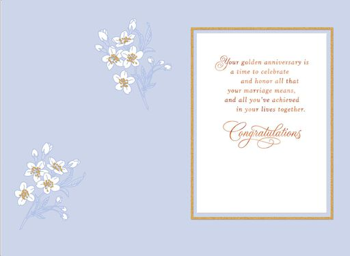 Butterfly Wishes 50th Anniversary Card,