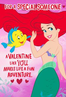 The Little Mermaid Lucky Feeling Valentine's Day Card,