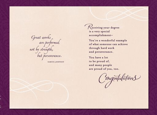 A Regal Occasion Graduation Card,