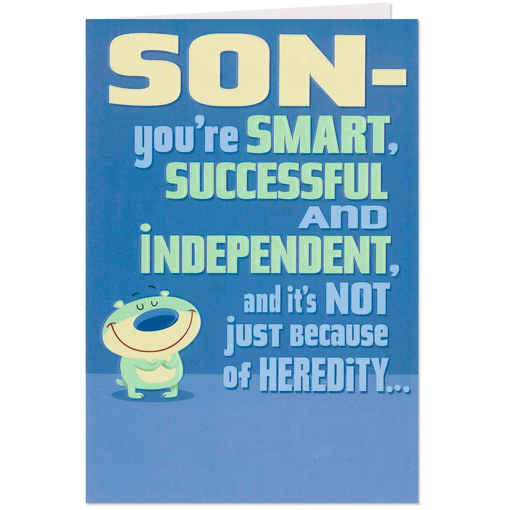 Smart And Successful Son Funny Birthday Card