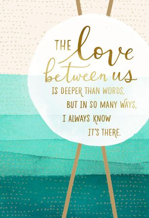 Love Between Us Anniversary Card