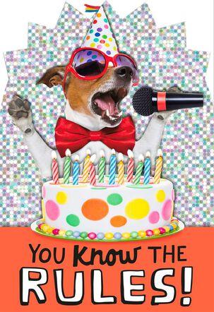 Singing Dog Birthday Card