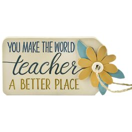 Teachers Make the World a Better Place Resin Gift Tag, , large