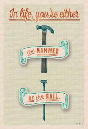Hammered or Nailed Funny Birthday Card