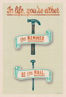 Hammered or Nailed Funny Birthday Card,