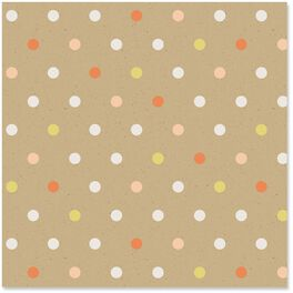 Polka Dots Kraft Wrapping Paper Roll, 27 sq. ft., , large