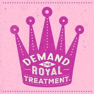 Royal Treatment Crown Musical Birthday Card