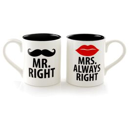 "Our Name is Mud ""Mr. and Mrs."" 12 oz. Mugs, Set of 2, , large"