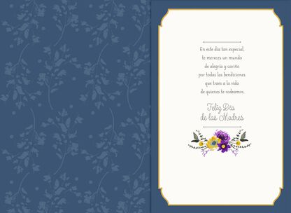 Lilac Butterfly Musical Spanish Language Mothers Day Card