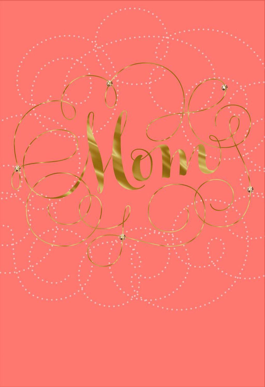 Simply Wonderful Birthday Card For Mom